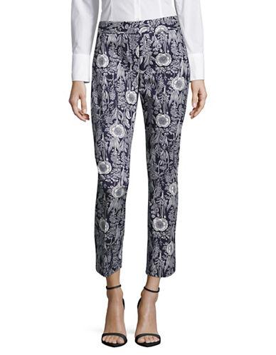 Tommy Hilfiger Floral Scroll Crop Pants-BLUE-Large 89077333_BLUE_Large