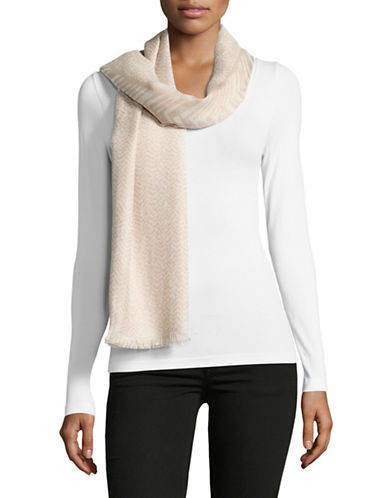 Calvin Klein Yarn Dyed Scarf-LATTE-One Size