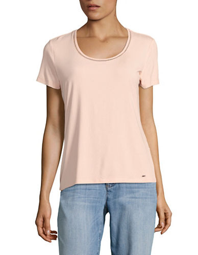 Tommy Hilfiger Ladder Stitch Tee-PINK-Small 89177669_PINK_Small