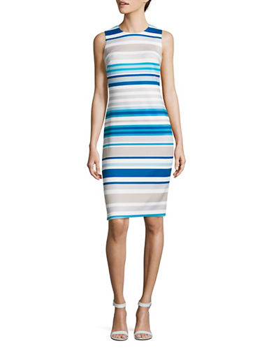 Calvin Klein Striped Sleeveless Midi Dress-MULTI-10
