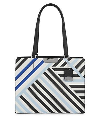 Calvin Klein Lol Stripe Tote Bag-BLUE MULTI-One Size