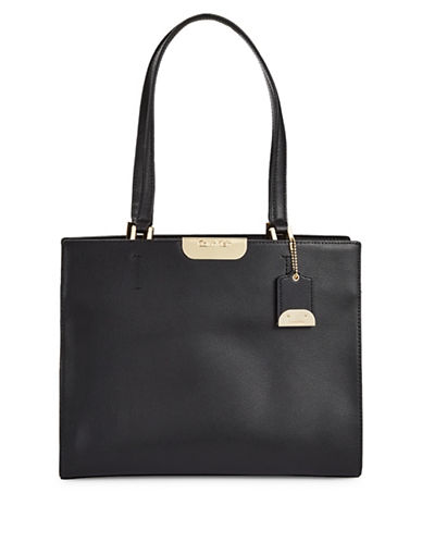 Calvin Klein Lola Leather Tote-BLACK-One Size 89160109_BLACK_One Size