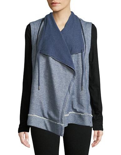 Calvin Klein Performance Open-Front Vest-BLUE-Large