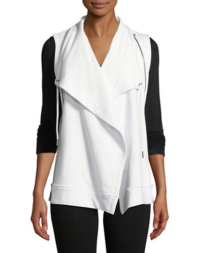 Calvin Klein Performance Open-Front Vest-WHITE-Small