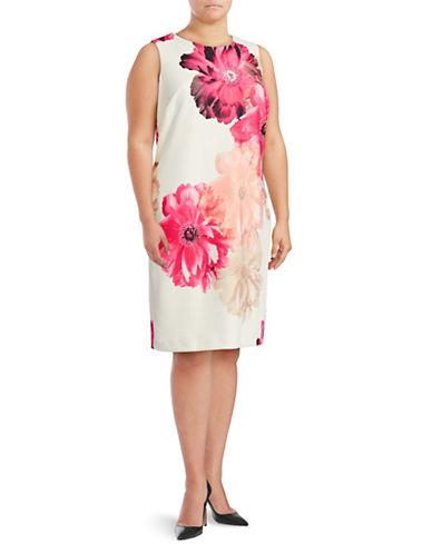 Calvin Klein Plus Floral Scuba Sheath Dress-PINK-24W