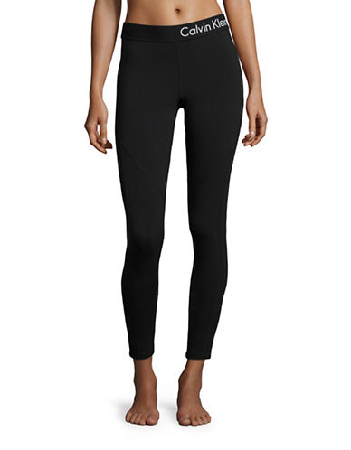 Calvin Klein Performance Logo Crop Leggings-BLACK-Small 88875324_BLACK_Small
