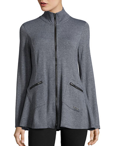 Calvin Klein Performance Stretch Zip-Up Jacket-BLACK HEATHER-Large 88864794_BLACK HEATHER_Large
