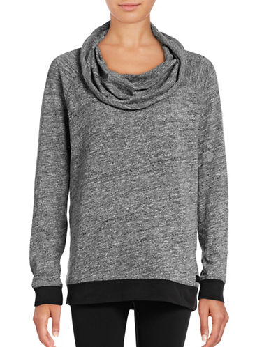 Calvin Klein Performance Performance Funnel Neck Sweater-HEATHER GREY-Large 88864863_HEATHER GREY_Large