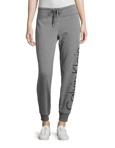 Calvin Klein Performance Raglan Sleeve Logo Sweatshirt-HEATHER GREY/ROSE GOLD-Large 88875332_HEATHER GREY/ROSE GOLD_Large