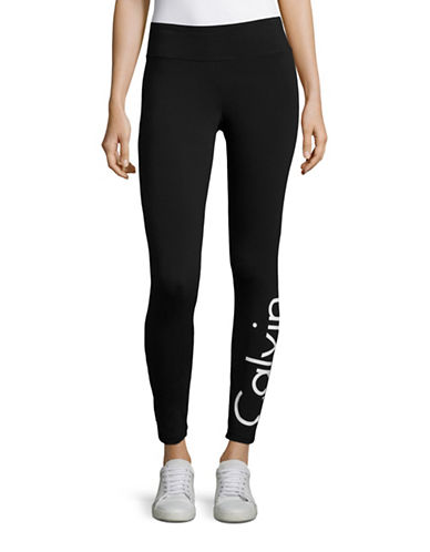 Calvin Klein Performance Crop Logo Print Leggings-WHITE COMBO-Medium 88900421_WHITE COMBO_Medium