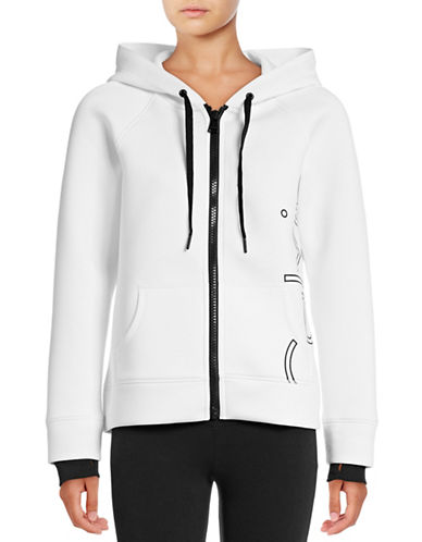 Calvin Klein Performance Outline Logo Scuba Hoodie-WHITE-Medium 88875318_WHITE_Medium