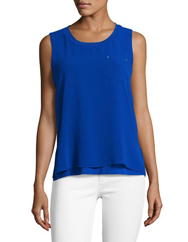 Calvin Klein Sleeveless Chiffon Overlay Top-BLUE-Medium 89211731_BLUE_Medium