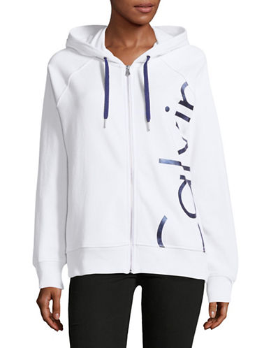 Calvin Klein Performance French Terry Logo Hoodie-WHITE-Medium 89049391_WHITE_Medium