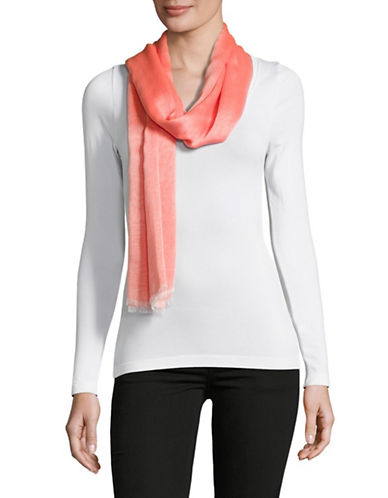 Calvin Klein Chambray Scarf-ORANGE-One Size