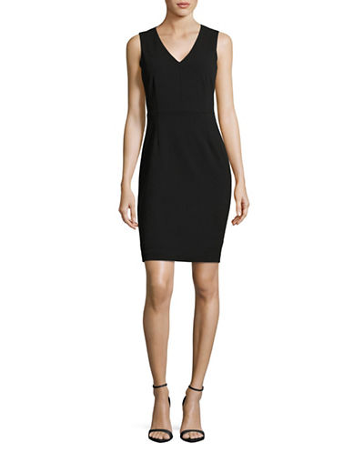 Calvin Klein Mesh Sheath Dress-BLACK-14 89192398_BLACK_14