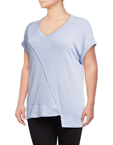 Calvin Klein Performance Plus V-Neck Asymmetrical Top 90119112