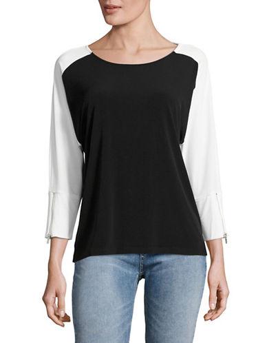 Calvin Klein Colourblock Dolman Stretch Top-BLACK-Small 89211797_BLACK_Small