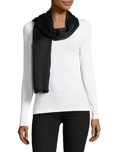 Calvin Klein Solid Scarf-BLACK-One Size