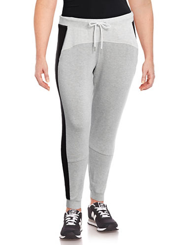 Calvin Klein Performance Plus Colourblocked Sweatpants-SILVER-3X 89078048_SILVER_3X