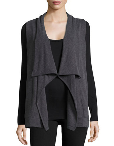 Calvin Klein Performance Drape-Front Vest-HEATHER GREY-Small 88866946_HEATHER GREY_Small