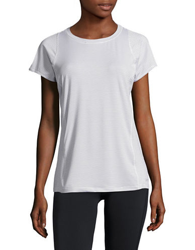 Calvin Klein Performance Striped Performance T-shirt-WHITE COMBO-X-Large
