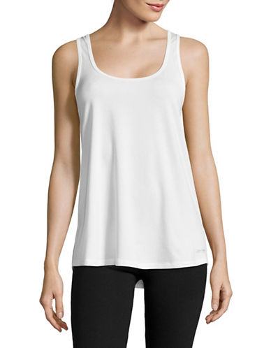 Calvin Klein Performance Multi Cross-Strap Tank Top-WHITE-X-Large 89151215_WHITE_X-Large