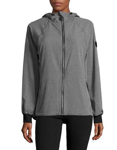 Calvin Klein Performance Quick-Dry Woven Zip Hoodie-GREY MELANGE-Medium 89151119_GREY MELANGE_Medium