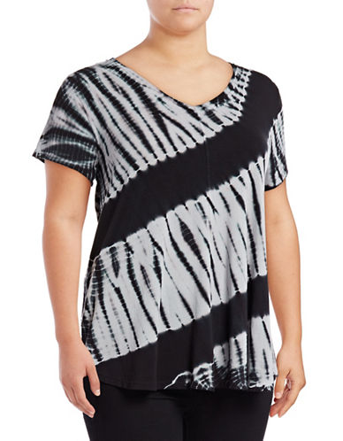 Calvin Klein Performance Plus Tie-Dye V-Neck Stretch Tee-CHARCOAL-2X 89078023_CHARCOAL_2X
