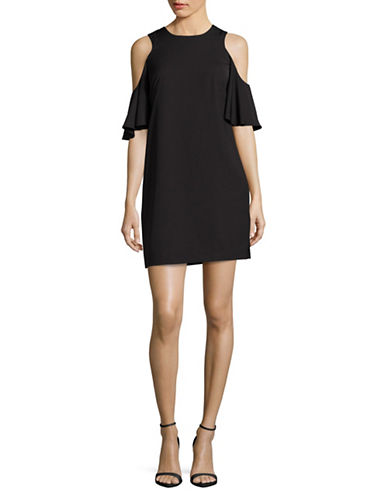 Calvin Klein Cold-Shoulder Dress-BLACK-12