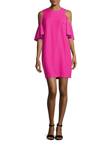 Calvin Klein Cold-Shoulder Dress-PINK-12