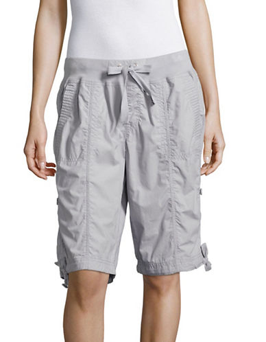 Calvin Klein Performance Quick-Dry Cotton Cargo Shorts-STONE-Medium 89151197_STONE_Medium