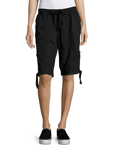 Calvin Klein Performance Quick-Dry Cotton Cargo Shorts-BLACK-X-Large 89151193_BLACK_X-Large