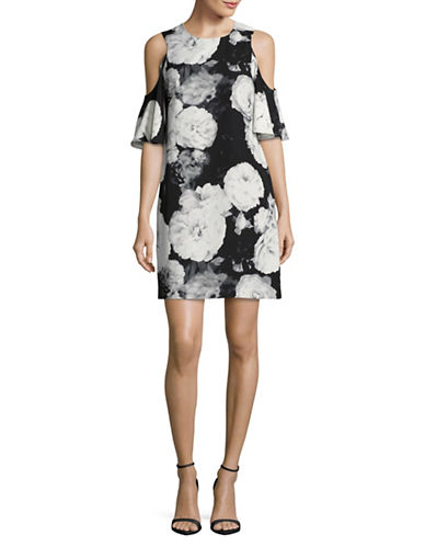 Calvin Klein Floral Cold-Shoulder Sheath Dress-MULTI-6