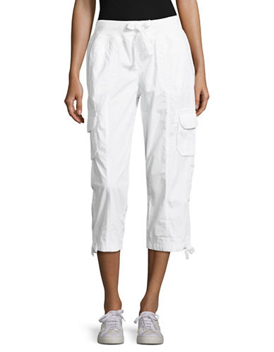 Calvin Klein Performance Quick-Dry Cargo Capris-WHITE-Large 89151172_WHITE_Large