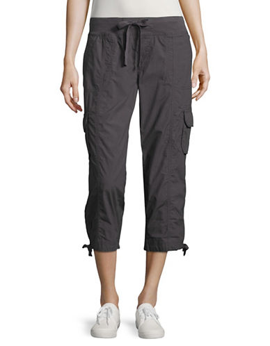 Calvin Klein Performance Quick-Dry Cargo Capris-CHARCOAL-X-Large 89151170_CHARCOAL_X-Large