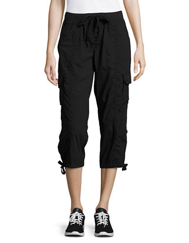 Calvin Klein Performance Quick-Dry Cargo Capris-BLACK-Medium 89093805_BLACK_Medium