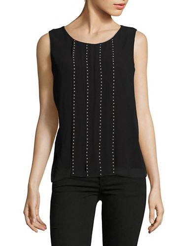 Calvin Klein Studded Sleeveless Combo Top-BLACK-Small 89150826_BLACK_Small