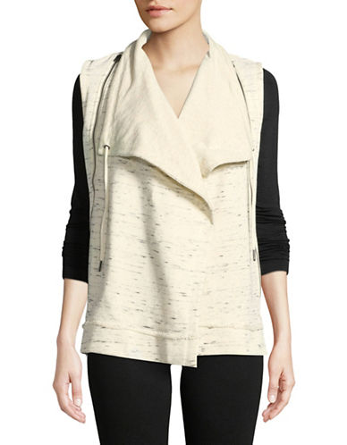 Calvin Klein Performance Open-Front Vest-BEIGE-Medium