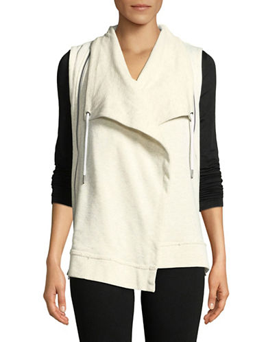 Calvin Klein Performance Open-Front Vest-WHITE-X-Large