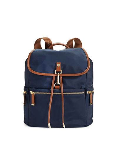 Calvin Klein Dressy Nylon Backpack-NAVY BLUE-One Size