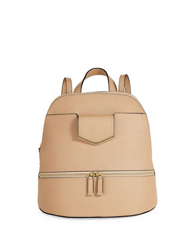 Calvin Klein Saffiano Leather Backpack-NUDE-One Size 88937443_NUDE_One Size