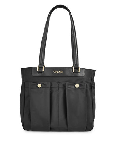 Calvin Klein Dressy Nylon Tote Bag-BLACK-One Size