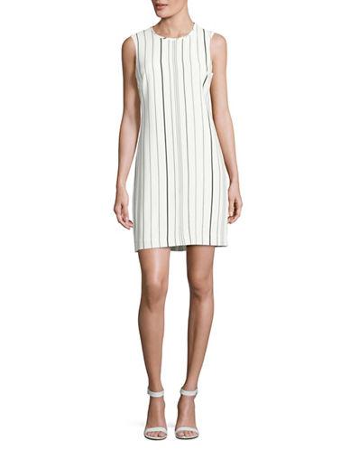 Calvin Klein Sleeveless Striped Shift Dress-MULTI-14