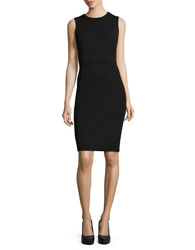 Calvin Klein Sleeveless Sheath Dress-BLACK-10
