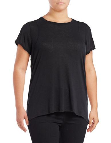 Calvin Klein Performance Plus Back Pleat Short Sleeve T-Shirt-BLACK-3X 89159408_BLACK_3X