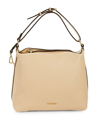 Calvin Klein Casuals Pebble Leather Hobo-NUDE-One Size 88937456_NUDE_One Size