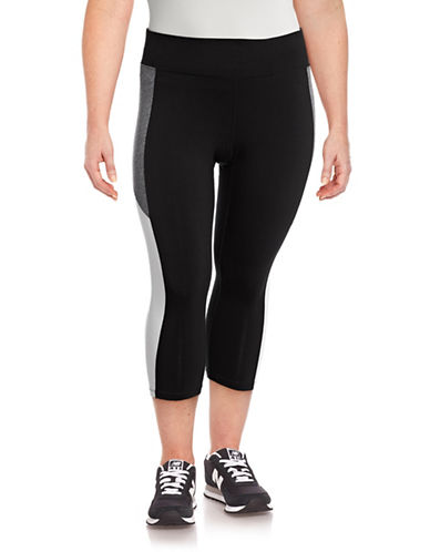 Calvin Klein Performance Plus Colourblock Crop Leggings-BLACK-3X 89159451_BLACK_3X