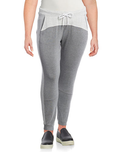 Calvin Klein Performance Plus Colourblock Joggers-GREY-1X 89159435_GREY_1X