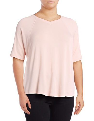 Calvin Klein Performance Plus Ballet Sleeve Batwing Stretch Top-PINK-2X 89159424_PINK_2X