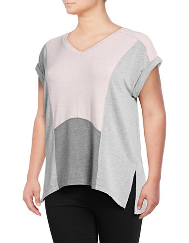 Calvin Klein Performance Plus Colourblock Stretch Pullover T-shirt-PINK-2X 89159414_PINK_2X